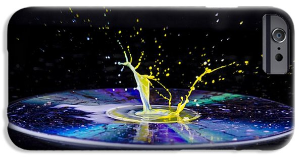 Disc iPhone Cases - Colourful Liquid Droplet iPhone Case by Photostock-israel