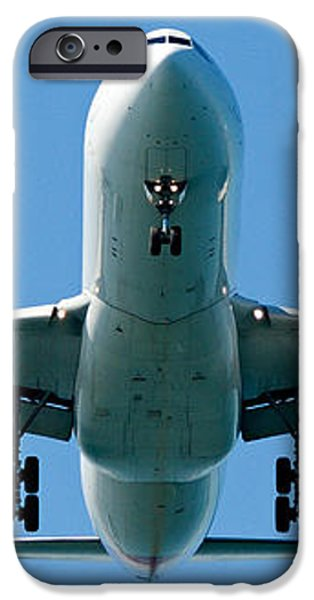 Commercial aircraft at Sydney Airport iPhone Case by Geoff Childs