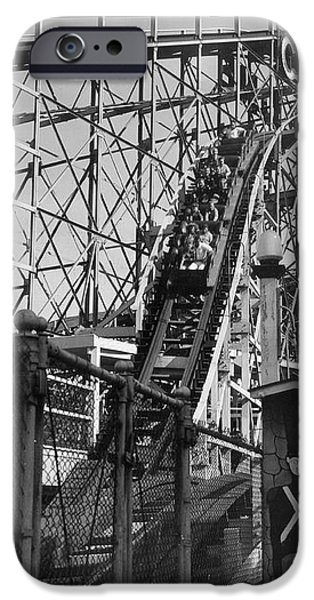 Coney Island - Cyclone Roller Coaster iPhone Case by MMG Archives
