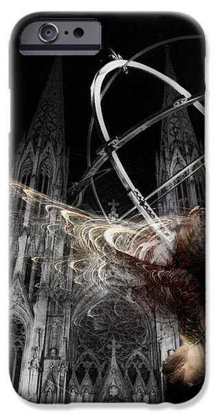 Night Angel Digital Art iPhone Cases - Confession iPhone Case by David Fox