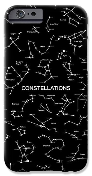 Ursa Minor iPhone Cases - Constellations iPhone Case by Taylan Soyturk