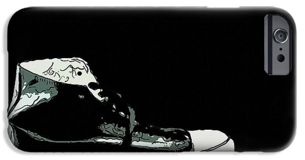 Sneaker iPhone Cases - Converse sports shoes iPhone Case by Toppart Sweden