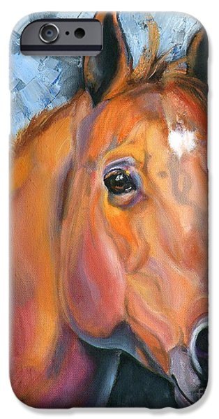 Chestnut Horse iPhone Cases - Copper Glow iPhone Case by Susan A Becker