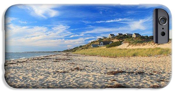 Cape Cod iPhone Cases - Corn Hill Beach Truro Cape Cod iPhone Case by John Burk