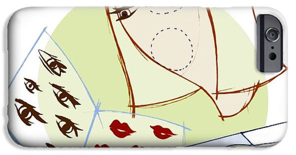 Lips iPhone Cases - Cosmetic Surgery, Conceptual Artwork iPhone Case by Paul Brown