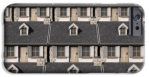 Home iPhone Cases - Cottage Neighbour Collage iPhone Case by Allan Swart