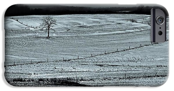 Snowy Day iPhone Cases - Country Landscape In Winter iPhone Case by Dan Sproul