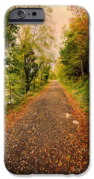 North Wales Digital Art iPhone Cases - Country Lane iPhone Case by Adrian Evans