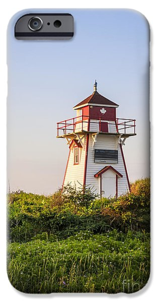 Province iPhone Cases - Covehead Harbour Lighthouse iPhone Case by Elena Elisseeva