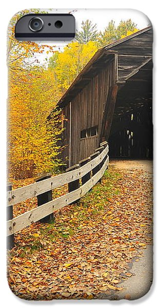 Covered Bridge iPhone Case by Catherine Reusch  Daley