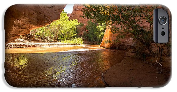 Holes In Sandstone iPhone Cases - Coyote Natural Bridge - Coyote Gulch - Utah iPhone Case by Gary Whitton