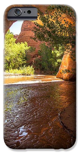 Coyote Natural Bridge - Coyote Gulch - Utah iPhone Case by Gary Whitton