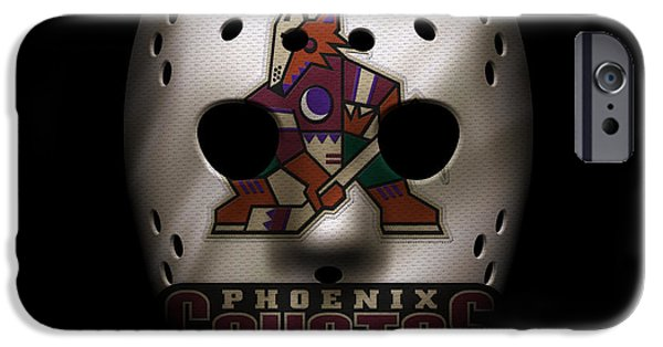 Coyote iPhone Cases - Coyotes Jersey Mask iPhone Case by Joe Hamilton