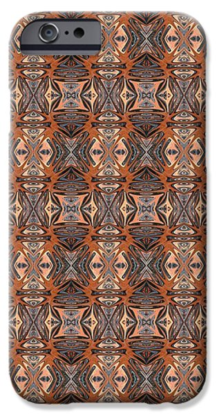 Abstract Digital Tapestries - Textiles iPhone Cases - CrazieArt Designs by Thia - Blair iPhone Case by Thia Stover