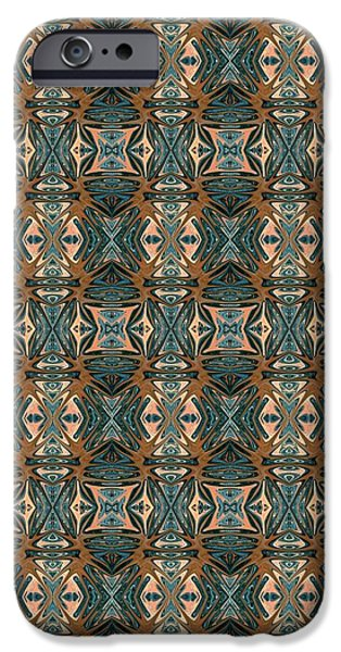 Abstract Digital Tapestries - Textiles iPhone Cases - CrazieArt Designs by Thia - Cassie iPhone Case by Thia Stover