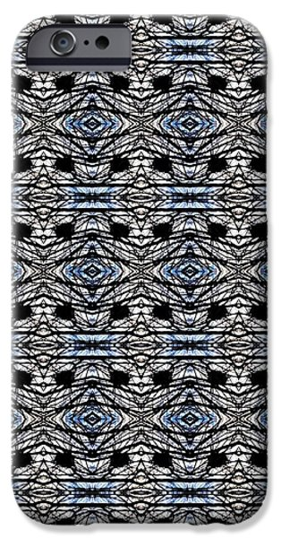Abstract Digital Tapestries - Textiles iPhone Cases - CrazieArt Designs by Thia - Olivia iPhone Case by Thia Stover