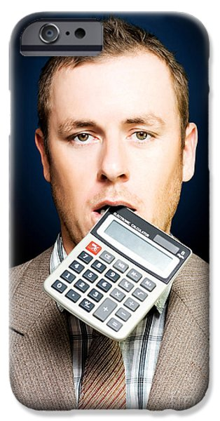 Analyst iPhone Cases - Credit crunch or financial struggle iPhone Case by Ryan Jorgensen