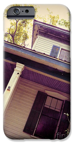 Haunted House Photographs iPhone Cases - Creepy Old House iPhone Case by Jill Battaglia