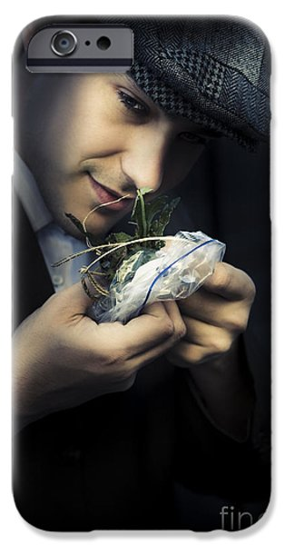 Drug Traffickers iPhone Cases - Criminal With Weeds And Green Grass iPhone Case by Ryan Jorgensen