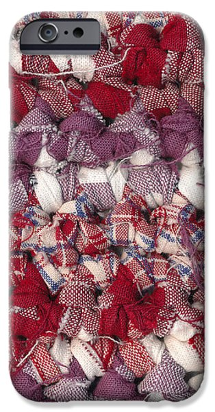 Crochet rag rug iPhone Case by Kerstin Ivarsson