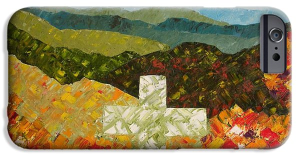 Smokey Mountains Paintings iPhone Cases - Cross Of The Colorful Ridges iPhone Case by Ralph Loffredo