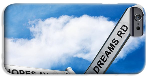 Ambition Photographs iPhone Cases - Crossroads Of Hopes And Dreams iPhone Case by Ryan Jorgensen