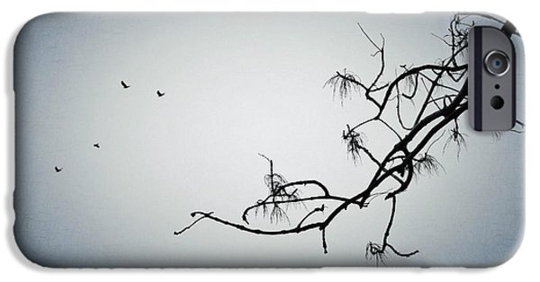 Winter Weather iPhone Cases - Crows iPhone Case by Marianna Mills