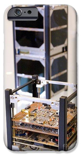 Chip iPhone Cases - Cubesat Satellite iPhone Case by Mark Williamson