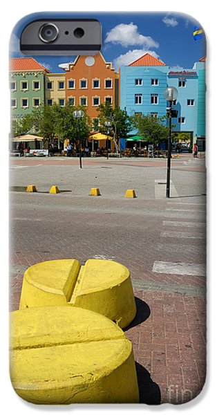 Curacaos Colorful Architecture iPhone Case by Amy Cicconi