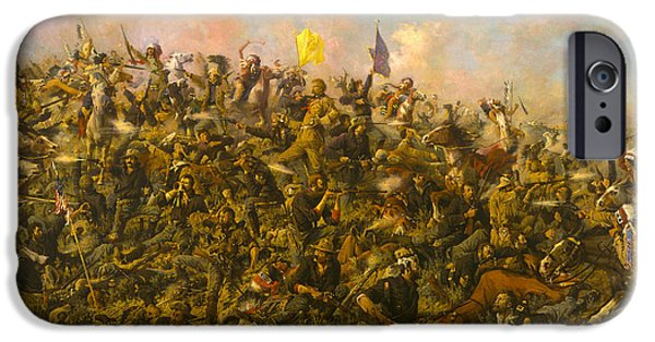 7th iPhone Cases - Custers Last Stand iPhone Case by Edgar S Paxson