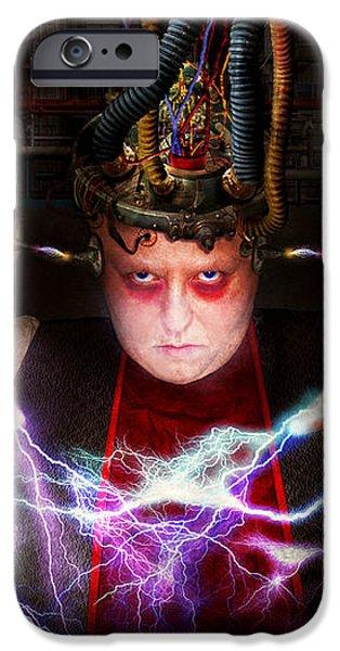 Cyberpunk - Mad skills iPhone Case by Mike Savad