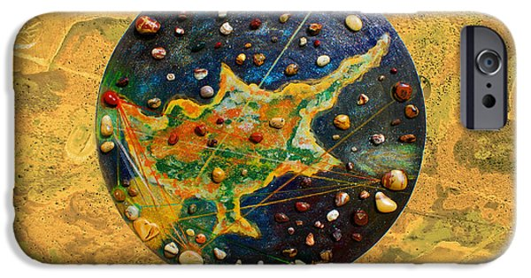 Nebula Paintings iPhone Cases - Cyprus  iPhone Case by Augusta Stylianou