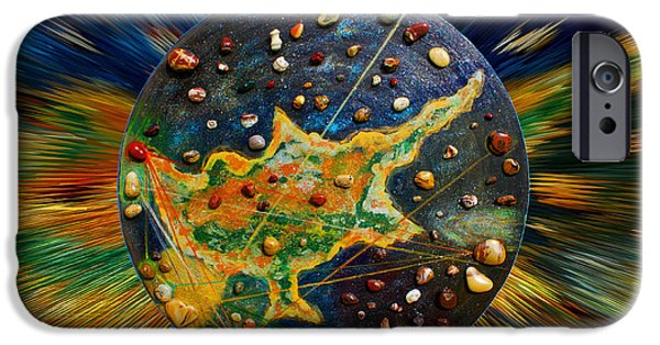 Nebula Paintings iPhone Cases - Cyprus Stars iPhone Case by Augusta Stylianou