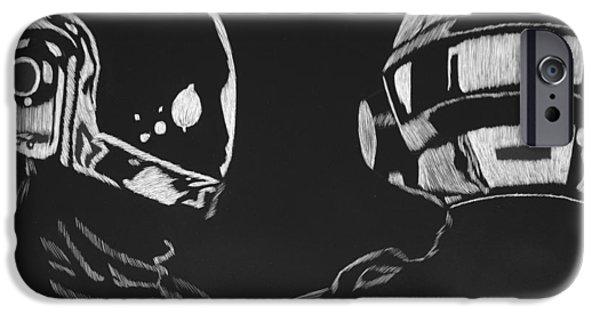 Daft Punk iPhone Cases - Daft Punk iPhone Case by Trevor Garner