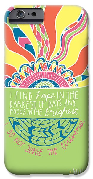 Psychedelic Photographs iPhone Cases - Dalai Lama Quote iPhone Case by Susan Claire
