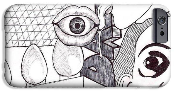 Diy Drawings iPhone Cases - Dali iPhone Case by Elizabeth Cadena