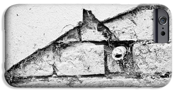Torn iPhone Cases - Damaged wall iPhone Case by Tom Gowanlock