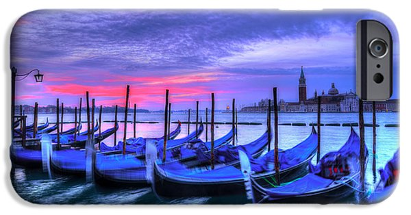 Piazza San Marco iPhone Cases - Dance of Dawn iPhone Case by Midori Chan