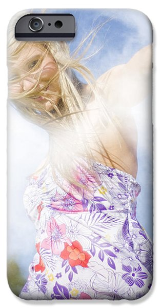 Youthful iPhone Cases - Dancing Dream Girl iPhone Case by Ryan Jorgensen