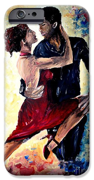 Michael Mixed Media iPhone Cases - Dancing In The Moonlight iPhone Case by Mike Grubb