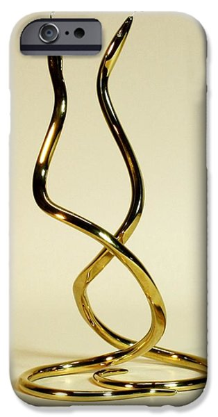 Snake Sculptures iPhone Cases - Dancing Snakes iPhone Case by Kevin Schrader