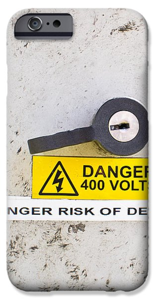 Shock iPhone Cases - Danger of death iPhone Case by Tom Gowanlock