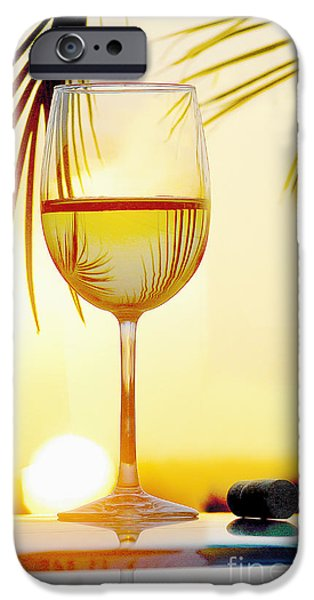 Red Wine iPhone Cases - Day at the Beach iPhone Case by Jon Neidert