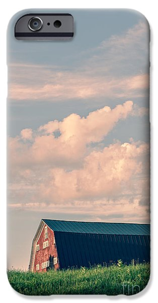 Farming Barns iPhone Cases - Day is done iPhone Case by Edward Fielding