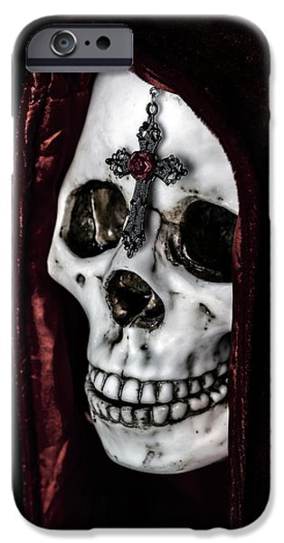Eerie iPhone Cases - Dead Knight iPhone Case by Joana Kruse