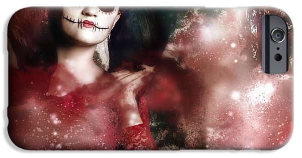 Eerie iPhone Cases - Death and creation iPhone Case by Ryan Jorgensen