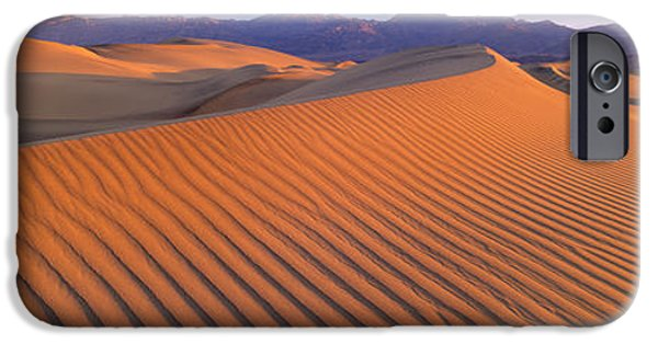Sand Dunes iPhone Cases - Death Valley National Park, California iPhone Case by Panoramic Images