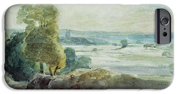 Vale iPhone Cases - Dedham Vale iPhone Case by John Constable