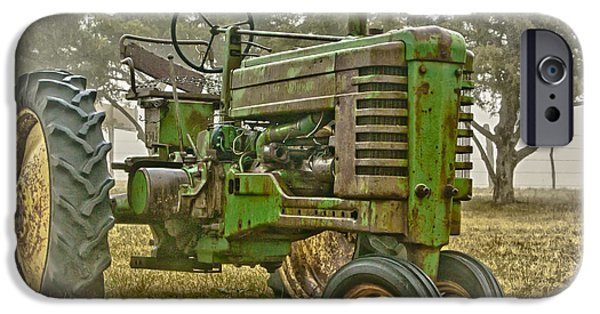 Machinery Photographs iPhone Cases - Deere In Mist iPhone Case by Robert Frederick