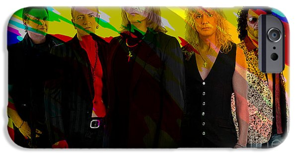 Def Leppard iPhone Cases - Def Leppard iPhone Case by Marvin Blaine